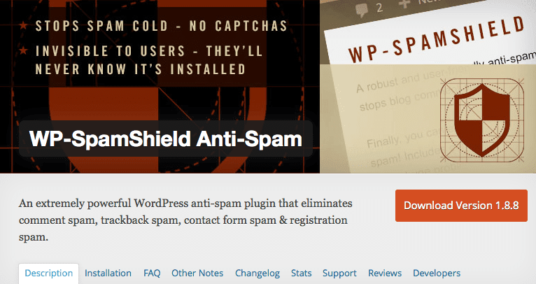 WP-SpamShield Anti-Spam voor WordPress