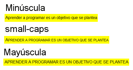 small-caps font-variant css