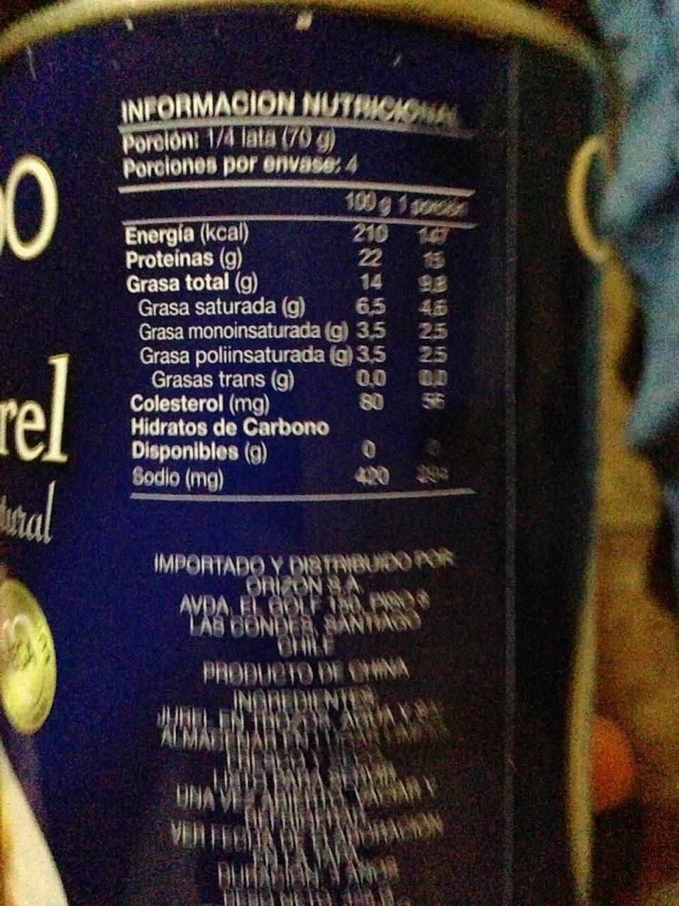 Diferencias en info nutricional del Jurel IMG_1355