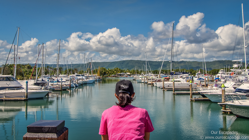 Port Douglas; Just before taking the ferry to Great Barrier Reef