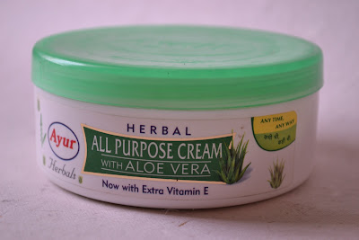 Ayur Herbal All Purpose Cream Aloe Vera Vitamin E Indian Makeup Beauty Dry Skincare Antiageing Moisturizer Blog Reviews