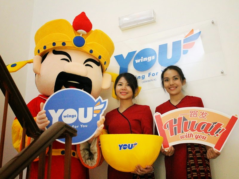 "YOU Wings ""HUAT With YOU"" - Spreading CNY Happiness"