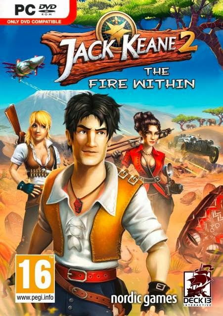 Cover Of Jack Keane 2: The Fire Within (2013) Full Latest Version PC Game Free Download Resumable Links at Alldownloads4u.Com