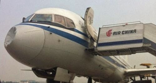 Ufo Sightings Accidental Contact Ufo Suspected In Chinese Plane Nose Cone Damage