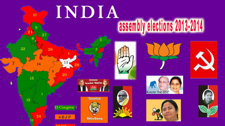 india assembly elections 2013-2014 party logo colections