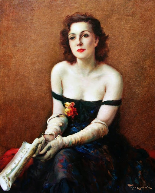 Fernand Toussaint - Elegant Lady with Music Score