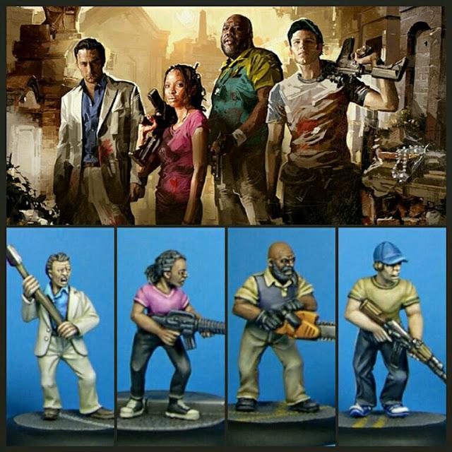 supervivientes left 4 Dead 2 de studio miniatures