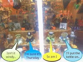 Teddy Bears in shop window