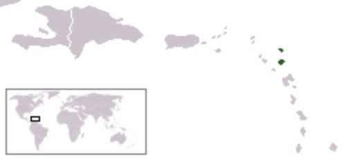 Mapa de Antigua y Barbuda en el mundo