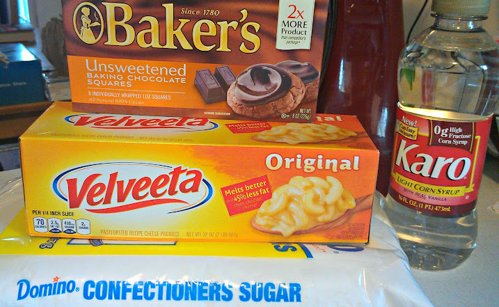Velveeta Fudge Recipe Ingredients #VelveetaRecipes