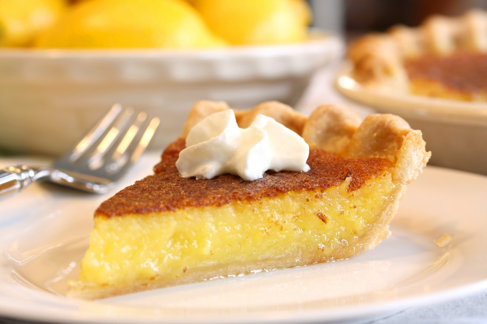 No. 10 - Lemon Chess Pie - Saving Room for Dessert