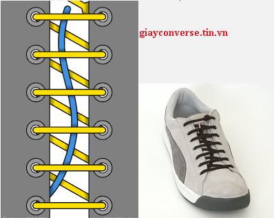 Cách buộc dây giày Converse kiểu một tay