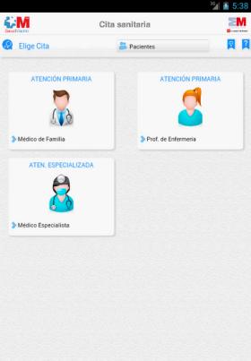 Pide cita sanitaria mediante aplicación para smartphones