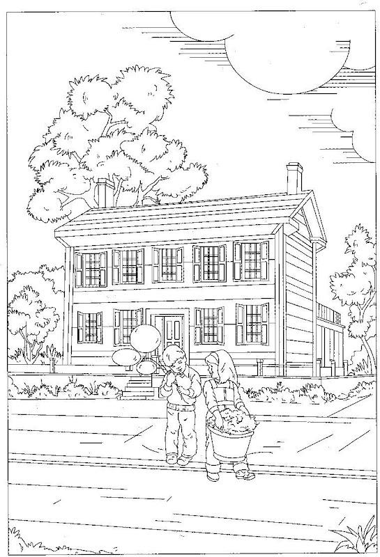 Dibujos De Casas De Campo. Elegant Casas De Labor Dibujo A Tinta ...