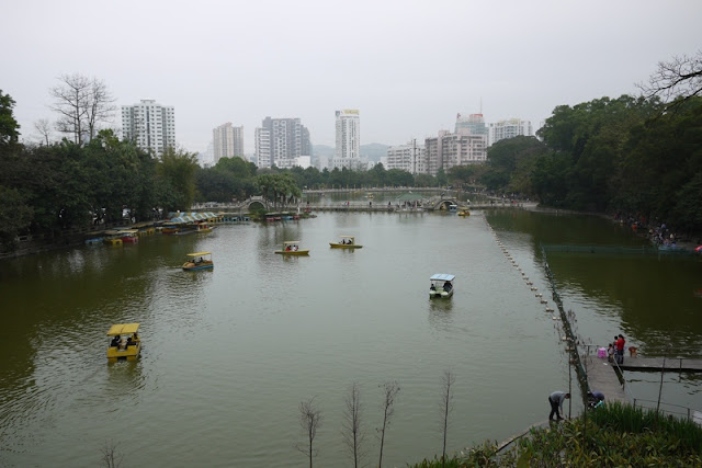 lake at Bailian Dong park in Zhuhai China