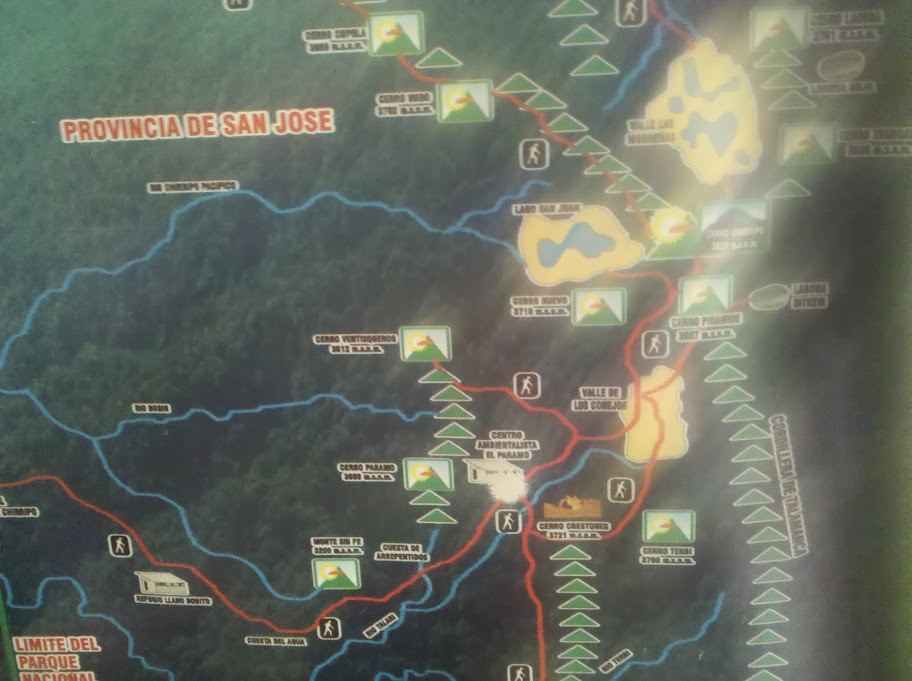 Chirripó trail map
