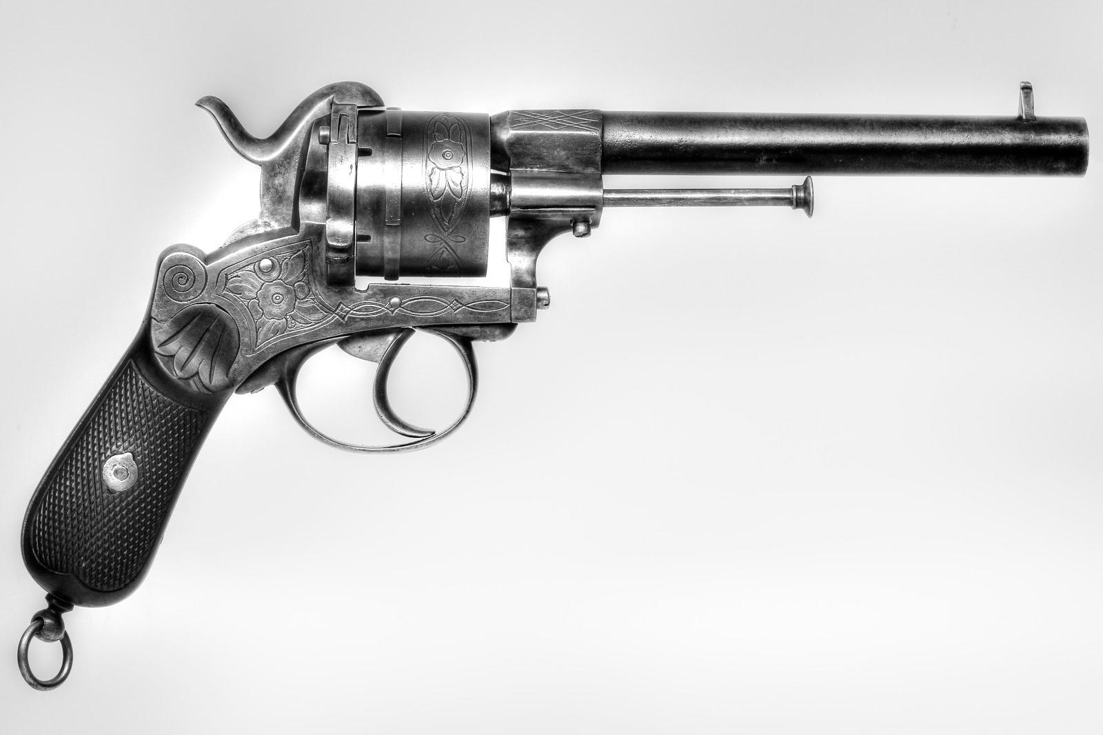 Belgian Single Action Pinfire Revolver