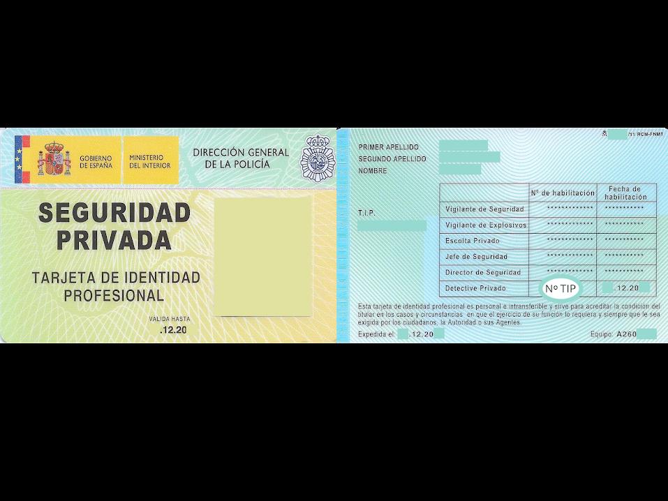 Licencia de detective privado legalmente habilitado