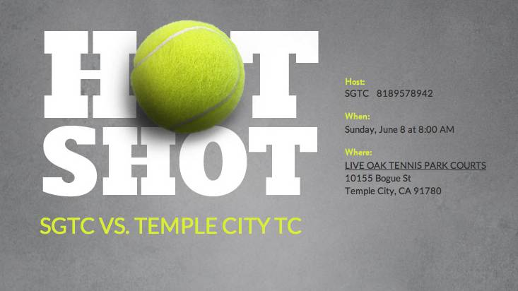 2014 Temple City Tennis Club Interclub