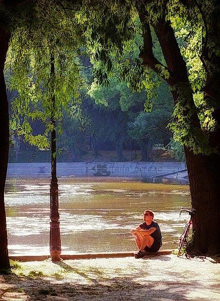 relaxare pe malul lacului cismigiu