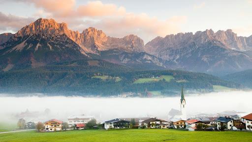 Ellmau Village in Fog, Tyrol, Austria.jpg