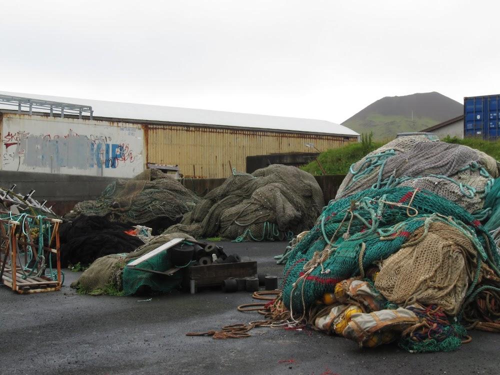 Fishing nets in Heimaey
