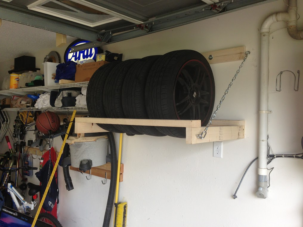DIY garage wheel/tire storage rack - Team Integra Forums ...