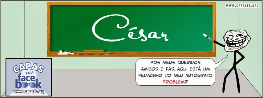 Capas para Facebook César