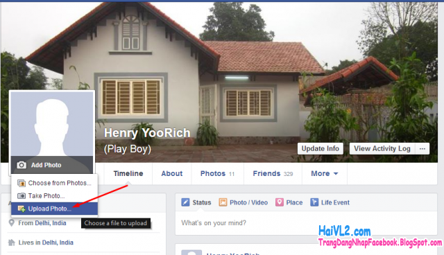 chọn ảnh đại diện facebook