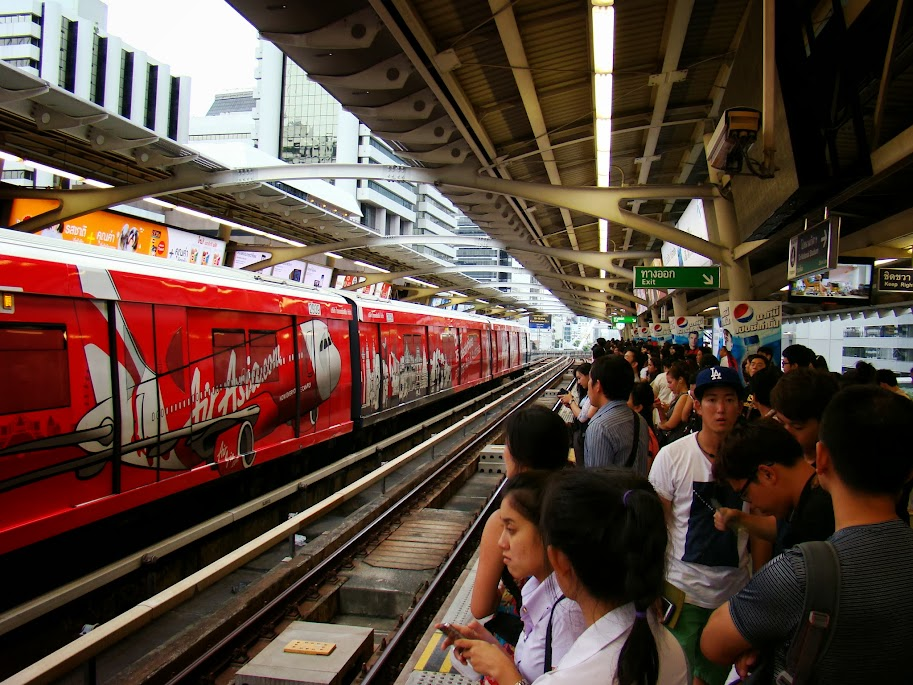 Hora punta en el metro