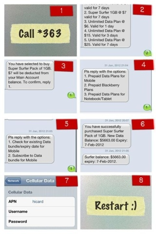 how to activate singtel prepaid data plan on iphone