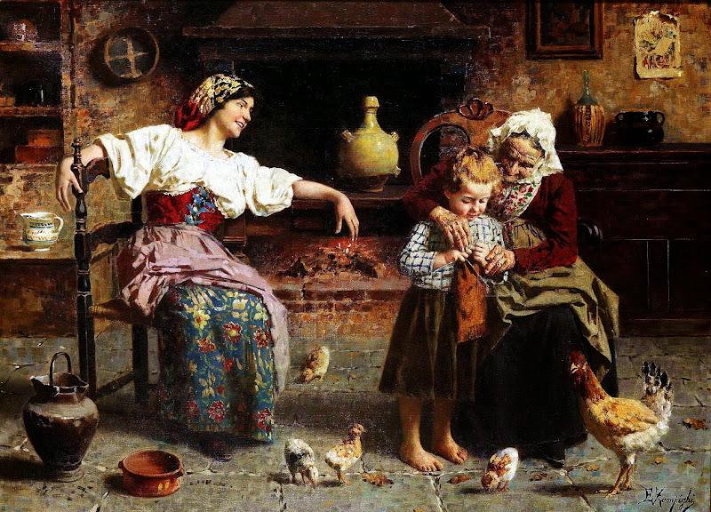 Eugenio Zampighi - Grandma's helping hand
