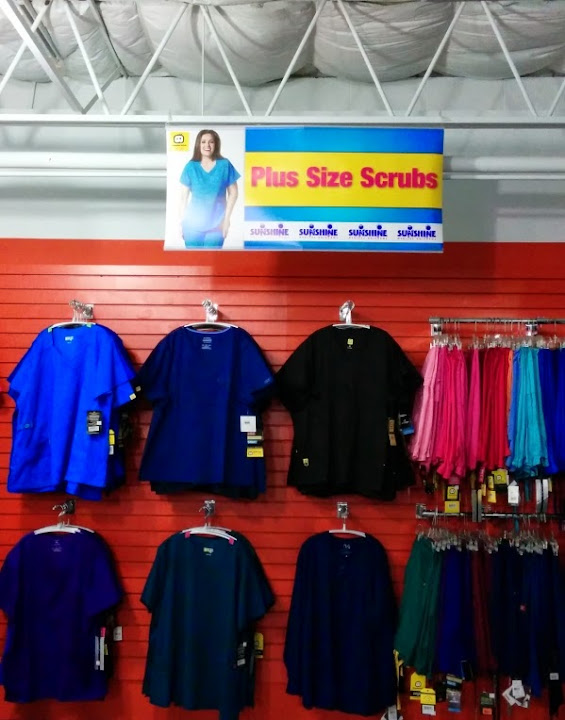New Plus Size section, FREE scrubs, and UHS payroll deduction