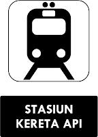 Rambu Stasiun Kereta Api
