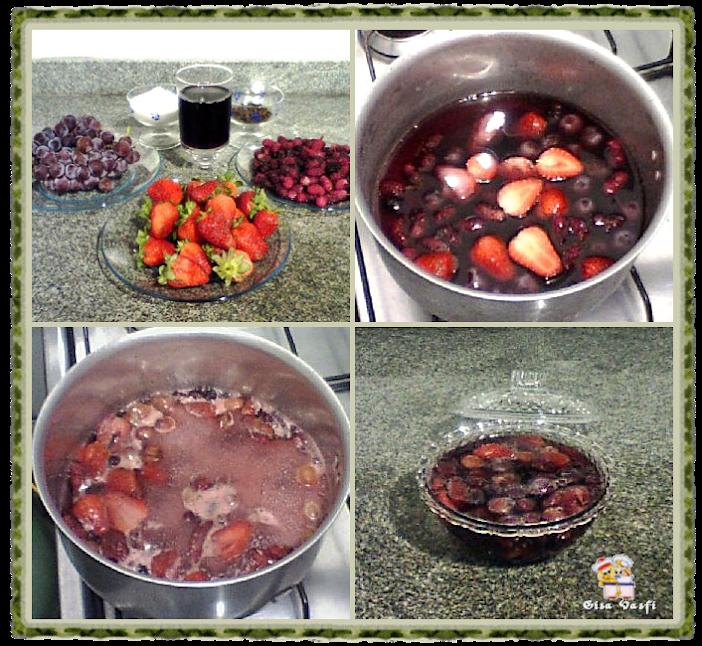 Calda com frutas vermelhas inteiras 2