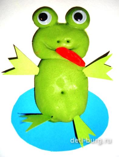 Лягушка поделка из пластилина