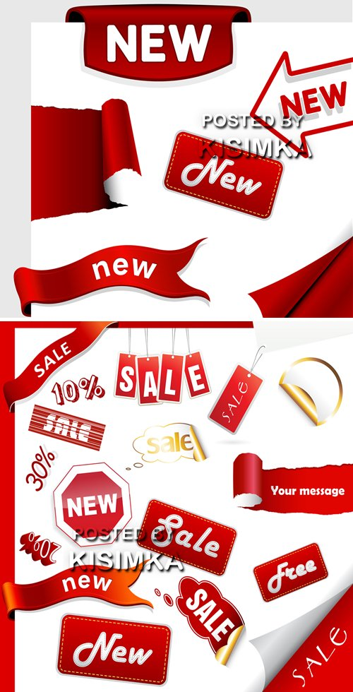 Stock: Set of sale icons, labels, stickers