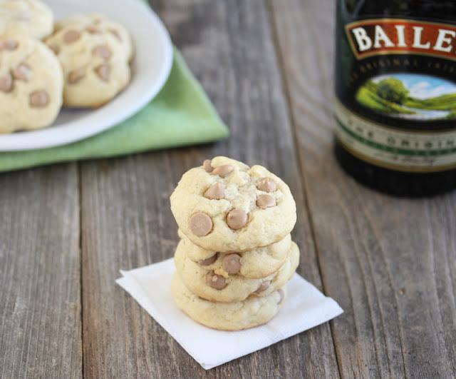 a stack of Baileys Irish Cream Cookies