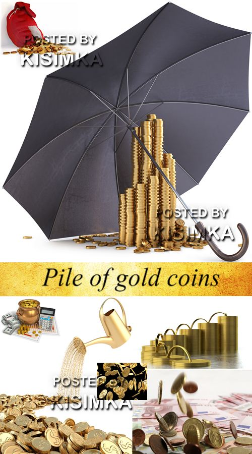 Stock Photo: Pile of gold coins