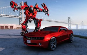Big Red Camero Bumblebee