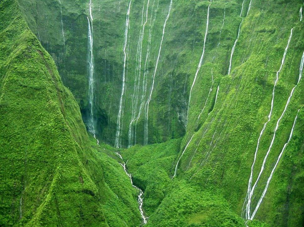 Водопад Стена Слез, Гаваи, Красивые водопады планеты