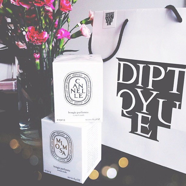 diptyque candles mimosa & cannelle
