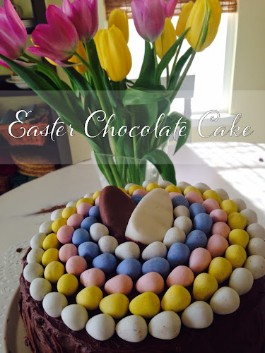 Chocolate cake, Easter chocolate cake, moist chocolate cake