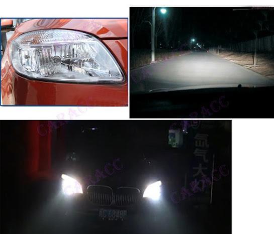 New 2x 9003 H4 6000K Xenon Car HeadLight Bulb Halogen ...