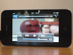 YouTube video playing on iPhone using Airplay to Aerodrom.
