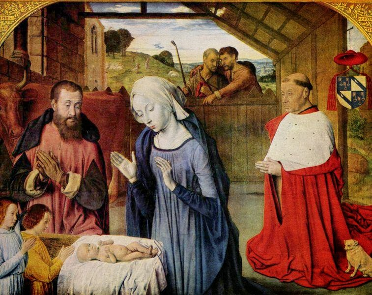Master of Moulins - Nativity with donor portrait of Cardinal Rolin