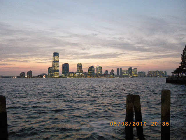 Vista de Nueva York al anochecer