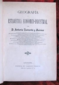 Portada en la que destaca el tipo de letra modernista el autor y su extensa relación de méritos.