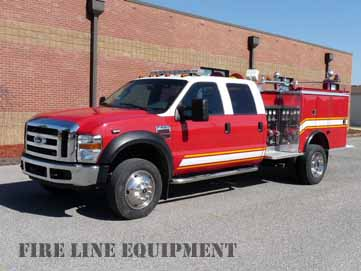 Light package new tires have been installed on this used mini pumper