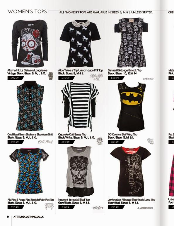 attitude clothing, alternative clothing